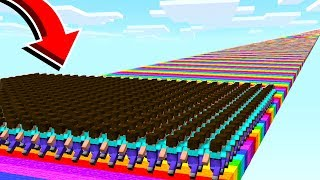 Download 500 FANS vs INFINITE RAINBOW MINECRAFT ROAD! Video