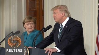 Download Trump tells Merkel ″at least we have something in common″ on wiretapping Video