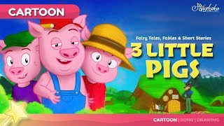 Download Three Little Pigs kids story cartoon | Bedtime Stories for Kids Video