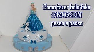 Download Como fazer Bolo Fake Frozen passo a passo Video