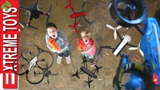 Download Attack of the Drones! Nerf Battle Ethan and Cole Vs. Machines Video