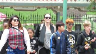 Download Angelina Jolie with her children at Disneyland Video