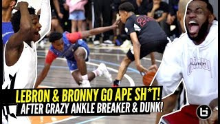 Download LeBron & Bronny LOSE THEIR MIND After CRAZY Ankle Breaker & Nasty POSTER DUNK!!! Game Gets HEATED! Video