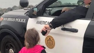 Download Cop Lets Kids Use Patrol Car Speakers To Say Bye To Dad As His Navy Ship Leaves Video