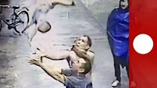Download Amazing catch: Baby falls out of window, saved by man in China Video