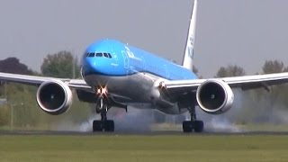 Download Lots of planes landing! Plane spotting at Schiphol - 747, 777, A330, and more! Video