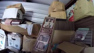 Download Looking For good stuff in a storage room auction Never know what You will find Trash or treasure Video