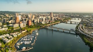 Download BRIDGETOWN - Portland, Oregon - Bridges from a Drone Video