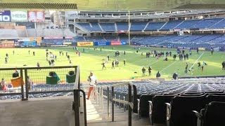 Download On the field at Yankee Stadium Video