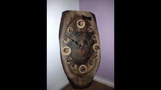 Download Деревянные часы с грецкого ореха, Wooden clock, Material walnut and apricot Video