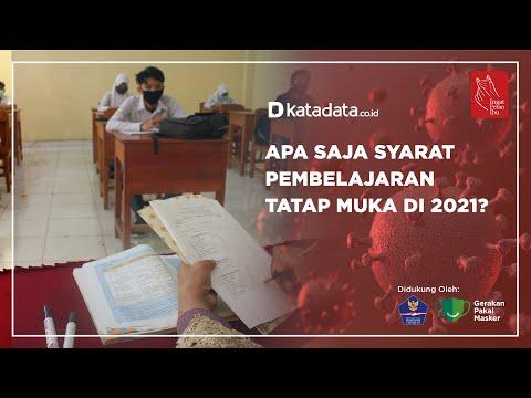 Apa saja syarat pembelajaran tatap muka di 2021? | Katadata Indonesia