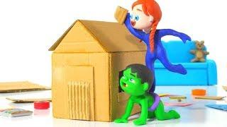 Download SUPERHERO BABIES BUILD A TOY HOUSE ❤ SUPERHERO BABIES PLAY DOH CARTOONS FOR KIDS Video