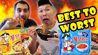 Download FIRE NOODLE RAMEN-ALL SAMYANG FLAVORS RANKED || Life After College: Ep. 563 Video