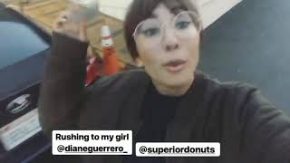 Download Jackie Cruz visits Diane Guerrero on the set of Superior Donuts Video