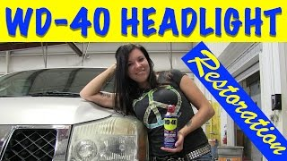 Download WD-40 & Bug Spray Headlight Restoration - Does That Really Work? Video