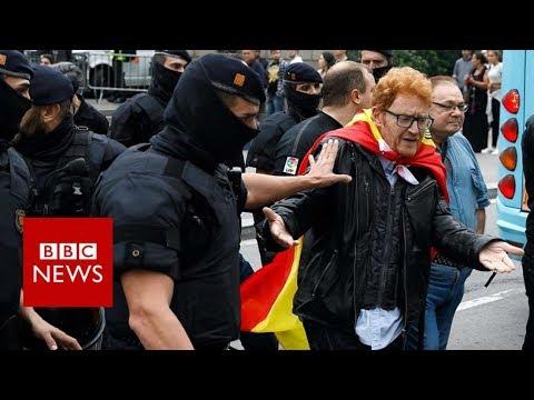 hqdefault - Catalonia referendum: Violence as police block voting- BBC News