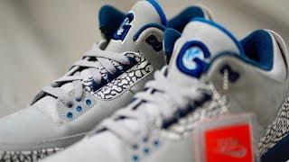 Download EXCLUSIVE UNBOXING: Air JORDAN 3 ″HOYAS PE″ Sneakers and ″He Got Game″ JORDAN 13 Video