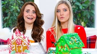 Download GINGERBREAD HOUSE DECORATING CHALLENGE ft iJustine! Video