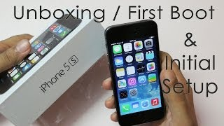Download iPhone 5S Unboxing First Boot & Initial Setup Video