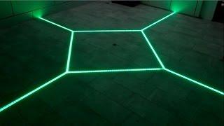Download how to LED floor tiling system DIY make your floor interactive Aluminum LED Light tilebar profile Video