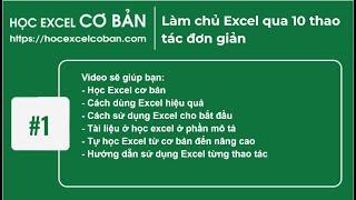 Download Học Excel cơ bản   #1 Làm chủ Excel qua 10 thao tác đơn giản Video