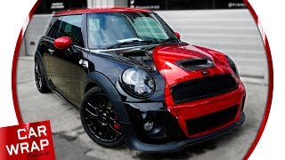 Download John Cooper Works Mini Chrome Red Car Wrap Video