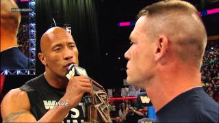 Download The Rock and John Cena are eager for their clash at WrestleMania 29: Raw, March 4, 2013 Video