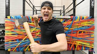 Download 100 LAYERS OF RUBBER BANDS (DANGER ALERT) UNBREAKABLE WALL Video