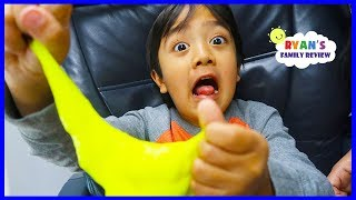 Download Kid Airplane Trip with Slime and Warheads Sour Candy! Video