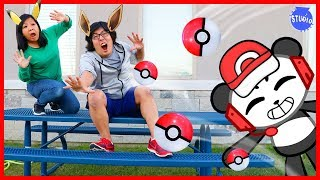 Download Pokemon Let's Go Catch Pokemon In Real Life Human Edition with Combo Panda!!! Video