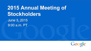 Download 2015 Annual Meeting of Stockholders Video