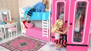 Download Barbie Bedroom Bunk bed Morning Routine دمية باربي غرفة نوم Beliche para Barbie Quarto Video