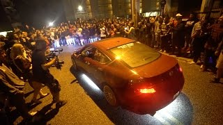 Download HUMAN WALL PROTECTS HONDA FROM COPS! Video