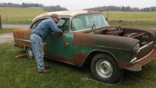 Download barn find 1955 belair chevy v/8 Video