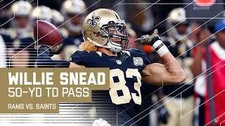 Download Willie Snead Throws a 50-Yard TD Pass to Tim Hightower | 🚨Trick Play Alert🚨| Rams vs. Saints | NFL Video