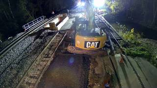 Download Railroad bridge and track replacement in Augusta, October 2019 Video