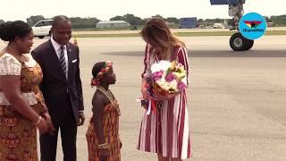 Download US First Lady Melania Trump arrives in Ghana Video