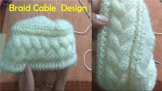 Download Braid Cable Design in Hindi Knitting (चुटिया केबल बुनाई में) | Knitting Hindi | Video