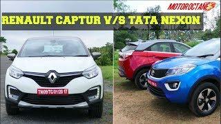 Download Renault Captur vs Tata Nexon - रीनाल्ट कैप्चर vs टाटा नेक्सन Comparison Video