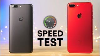 Download OnePlus 5 vs iPhone 7 Plus Speed Test! Video