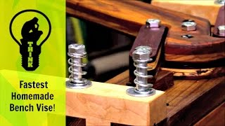Download Unbelievably Fast Homemade Bench Vise! Video