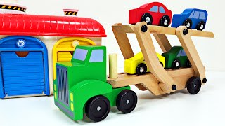 Download Big Rig Car Carrier Teaching Colors for Kids #1 Learning Colours Video for Children Organic Learning Video