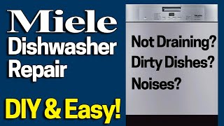 Download Miele Dishwasher Repair - Not Draining / Grinding Noises Fix in 1 Minute - Dishes not getting clean? Video