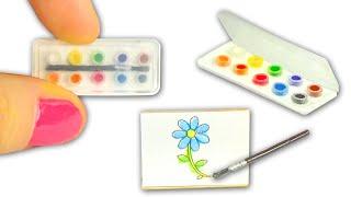 Download Miniature Watercolor Set DIY (actually works!) - Art Supplies - YolandaMeow♡ Video