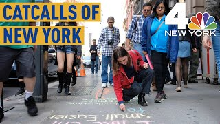 Download New Yorkers Stopped in Their Tracks by Catcalls Chalked on Sidewalks   NBC New York Video