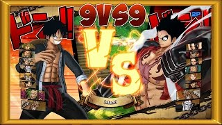 Download One Piece Burning Blood   2 Players Gameplay - 9 VS 9   ALL RANDOM #27 Video