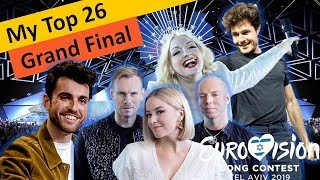 Download Eurovision 2019 – My Top 26 Songs– (Grand Final) Video