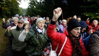 Download Historic: Millions gather to pray the Rosary in Poland HD Video