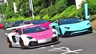 Download 【大黒PA】スーパーカー加速サウンド/Supercars sound in Japan. Aventador,Huracan,355,458 more Video