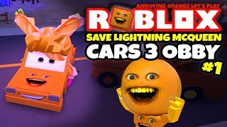 Download Roblox: SAVE LIGHTNING MCQUEEN - Cars 3 Obby! [Annoying Orange Plays] Video
